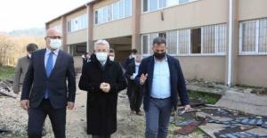 Başkan Erdem yapımı devam eden projeleri inceledi