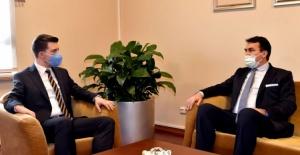 Büyükelçi Alagiç, Bursa Osmangazi Belediyesi Başkanı Dündar'ı ziyaret etti