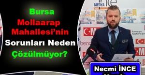 Necmi İnce Yazdı: Bursa Mollaarap Mahallesi'nin Sorunları Neden Çözülmüyor?