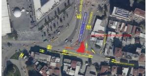 Kent Meydanı'nda trafik düzenlemesi