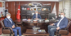 Başkan Özkan'dan Sağlık İl Müdürü  Yavuzyılmaz'a ziyaret