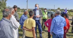 Başkan Özkan'dan mevsimlik işçilere bayram ziyareti