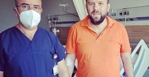 Gazeteci Necmi İnce Şehir Hastanesi#039;nde...