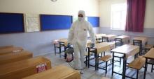 Orhangazi'de okullar dezenfekte ediliyor