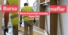 BURSA KOZAHAN'DA 500 ESNAF İSYAN ETTİ